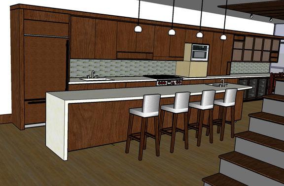SD rendering of kitchen