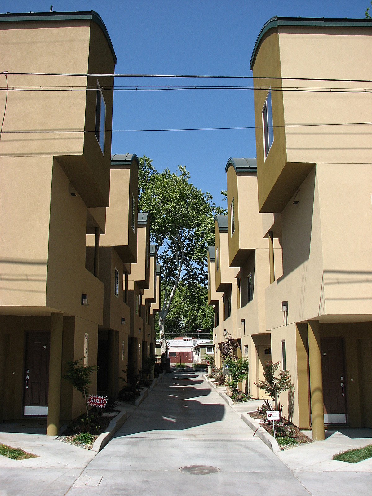 Southside Urban Villa's; central alley driveway