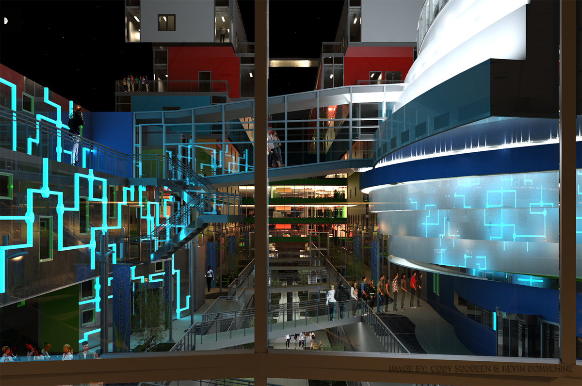 Ship view from the Gym at night