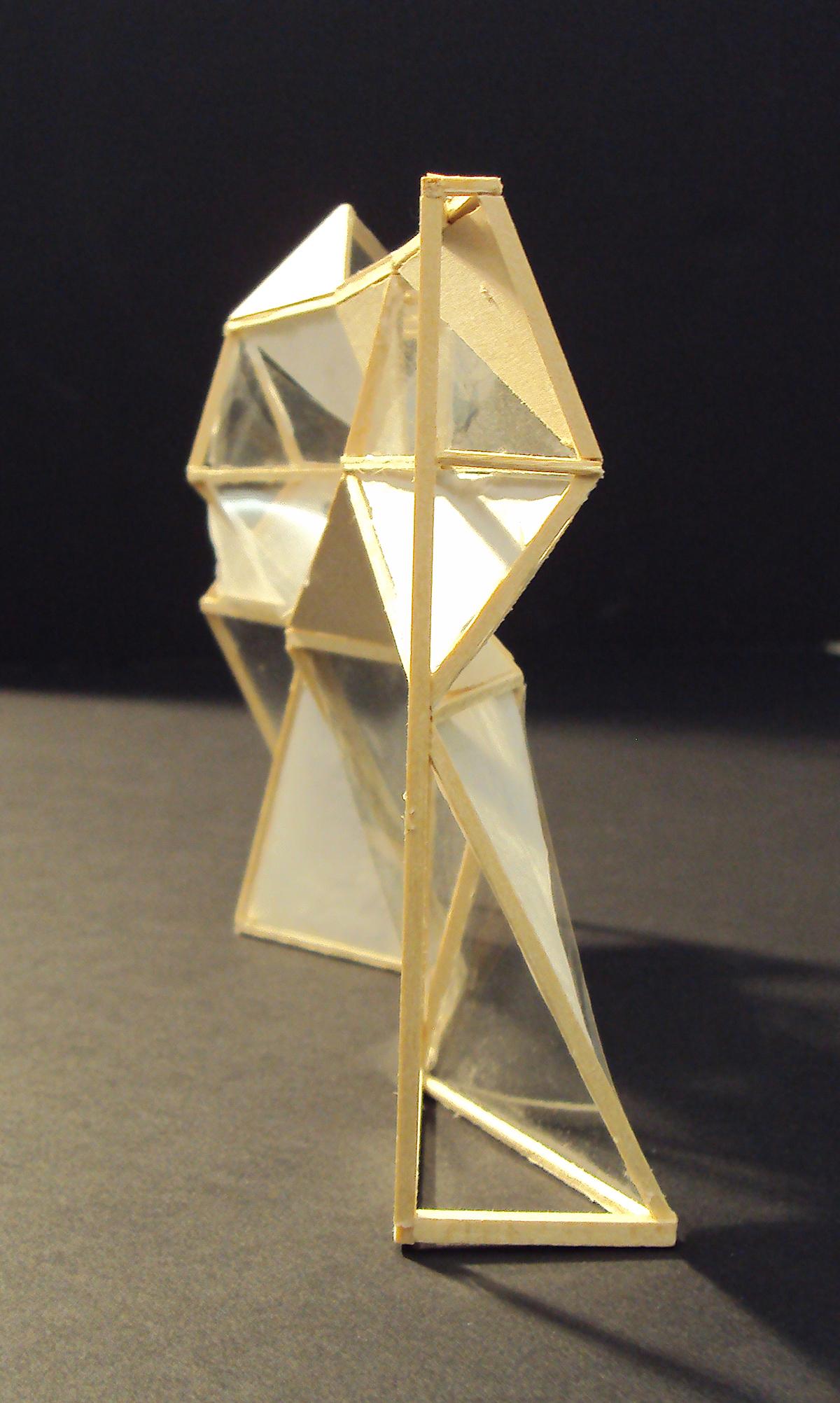 side view, geometric pattern