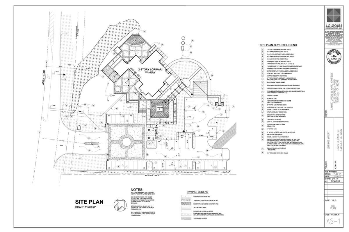 Auto-Cad Site Plan