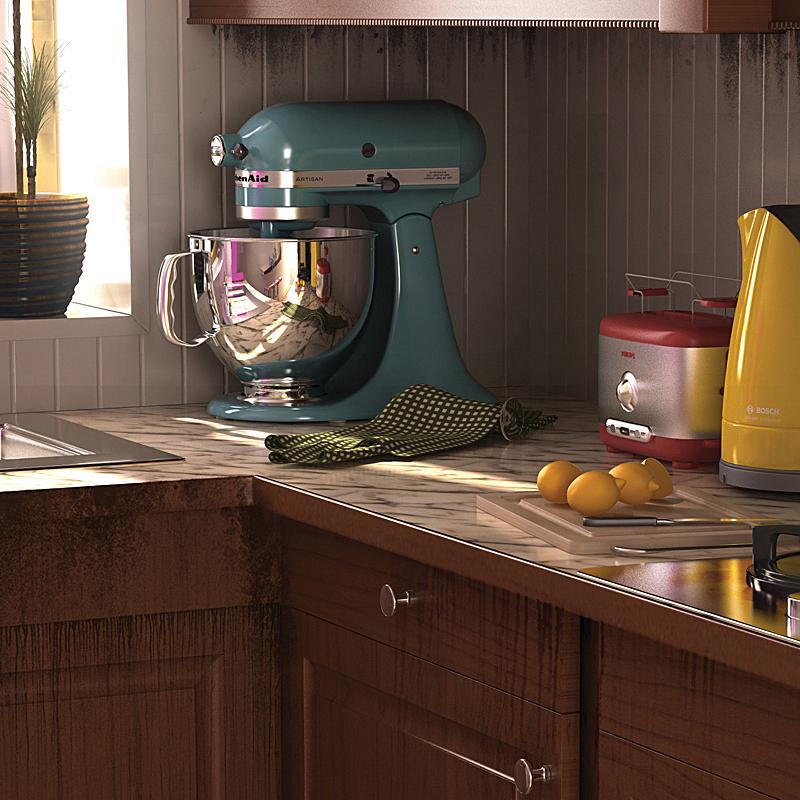 3 - Grotty kitchen detail