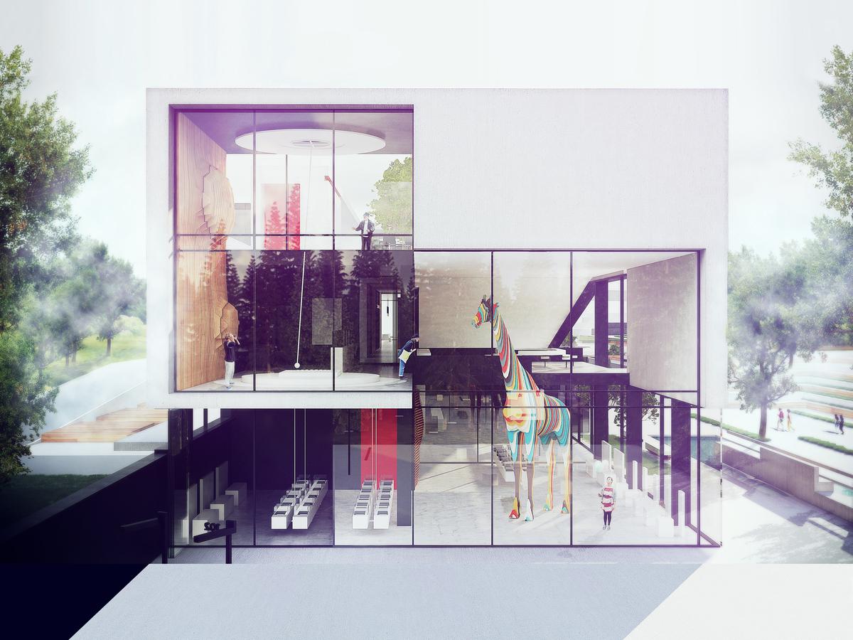 016 – PERSPECTIVE   FOUCAULT PENDULUM - Image Courtesy of ONZ Architects