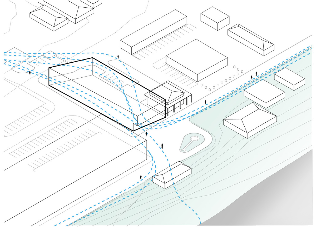 Diagram: meandering paths. Illustration courtesy of Trahan Architects