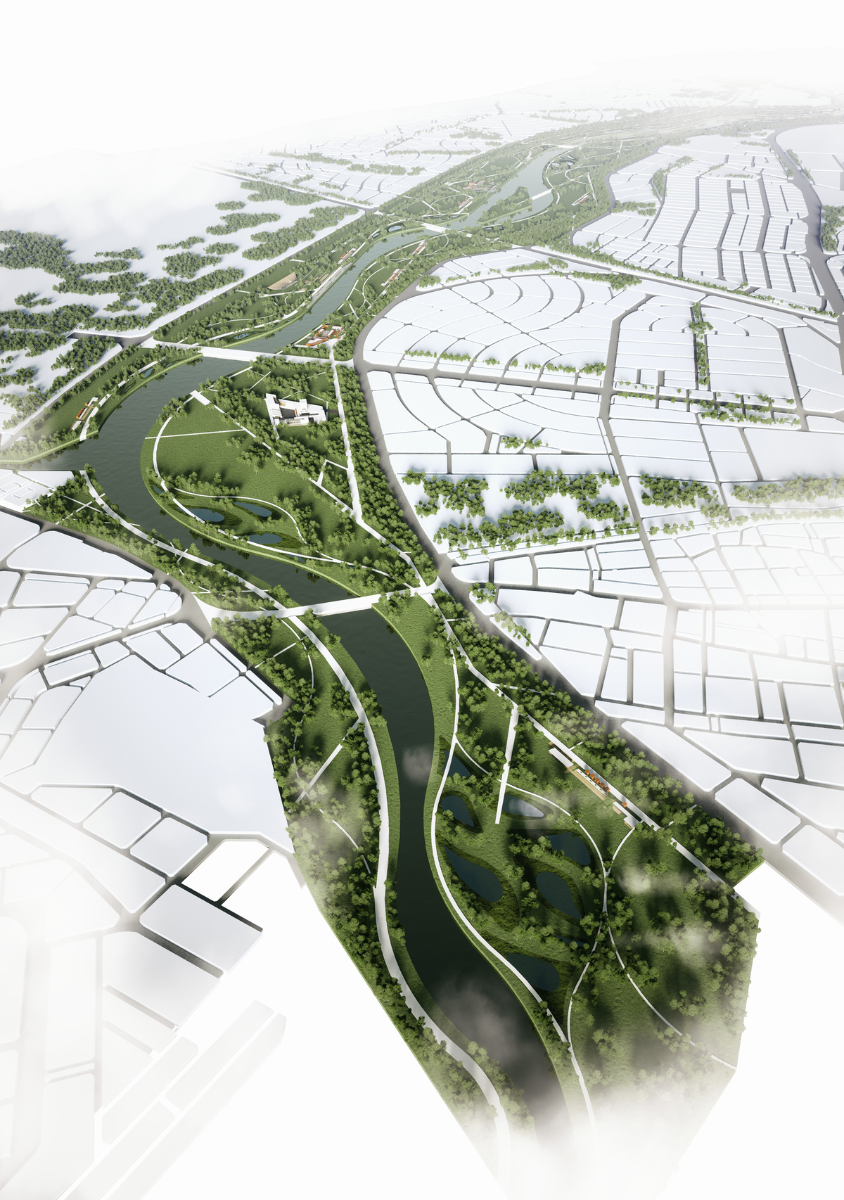 003 – AERIAL VIEW - Image Courtesy of ONZ Architects & MDesign