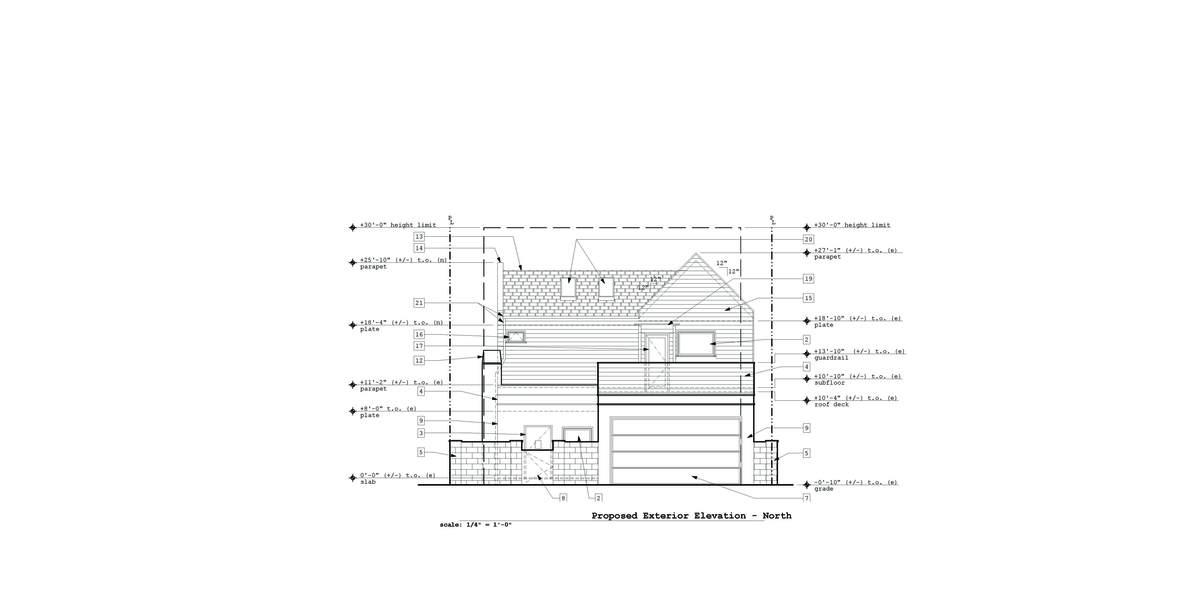 Proposed North Exterior Elevation