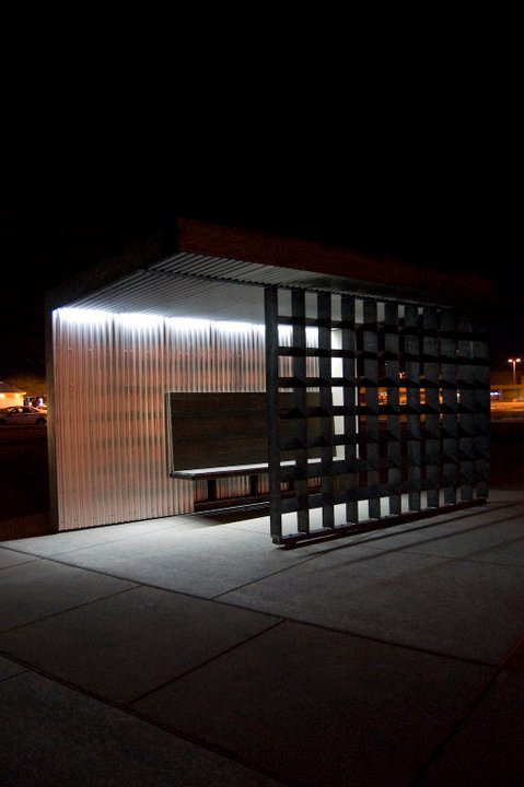 North Facing Bus Shelter Location: Campbell Rd & Irvington Rd, Tucson, AZ