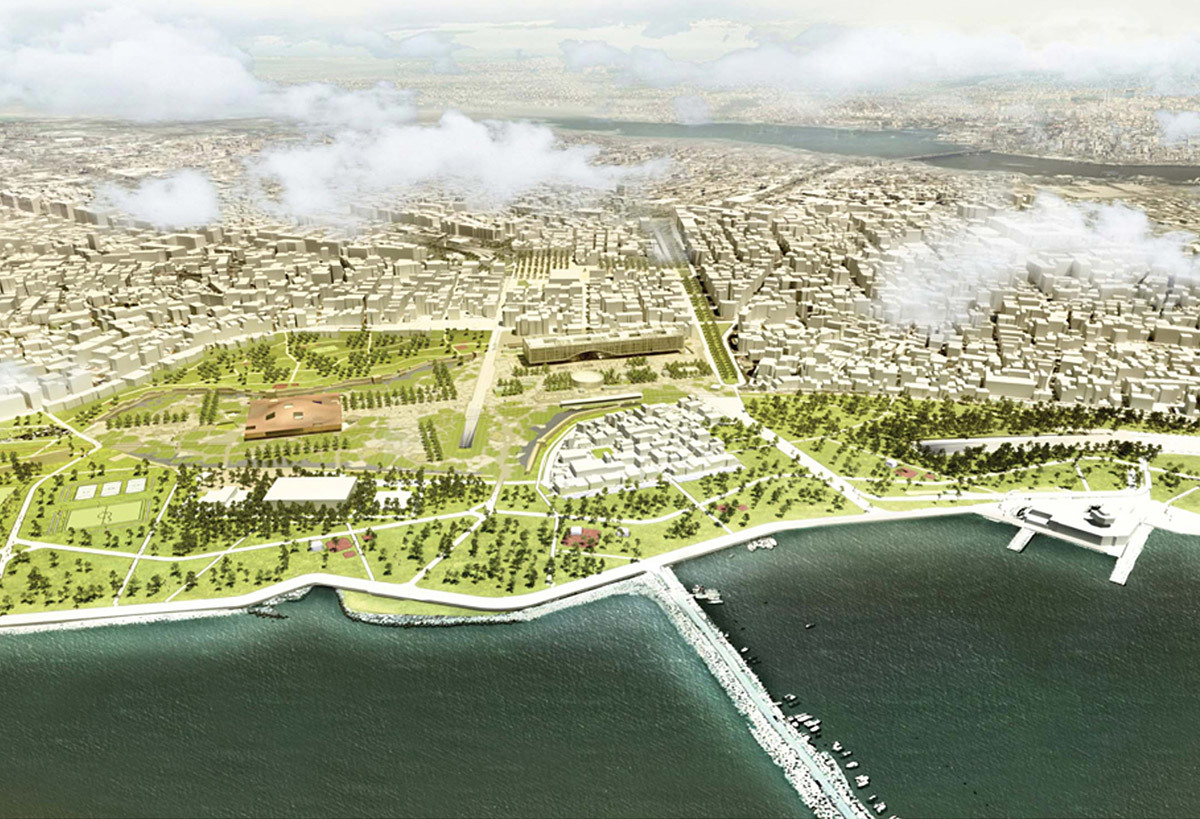 Detail from the design board of Cafer Bozkurt Architects & Mecanoo Architects