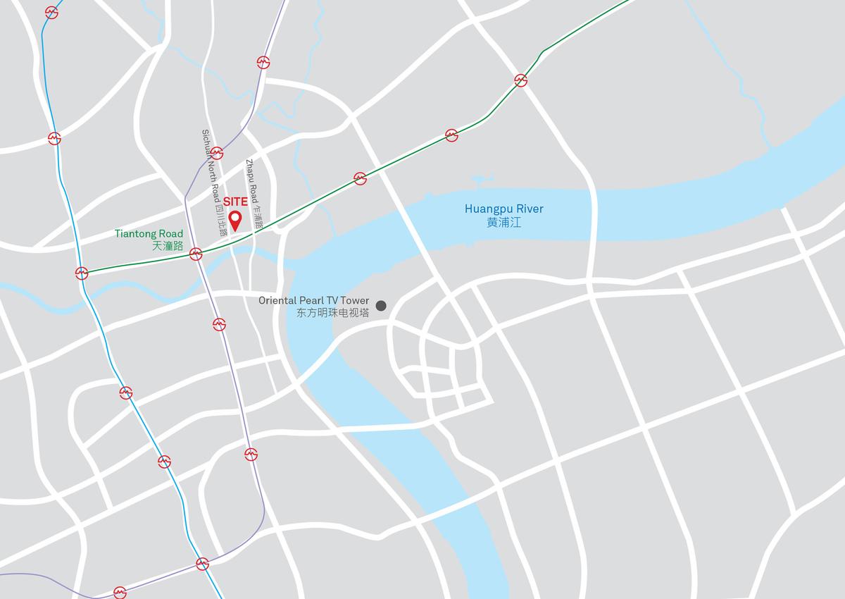 Shanghai Landmark Center, Shanghai, China - Site Map