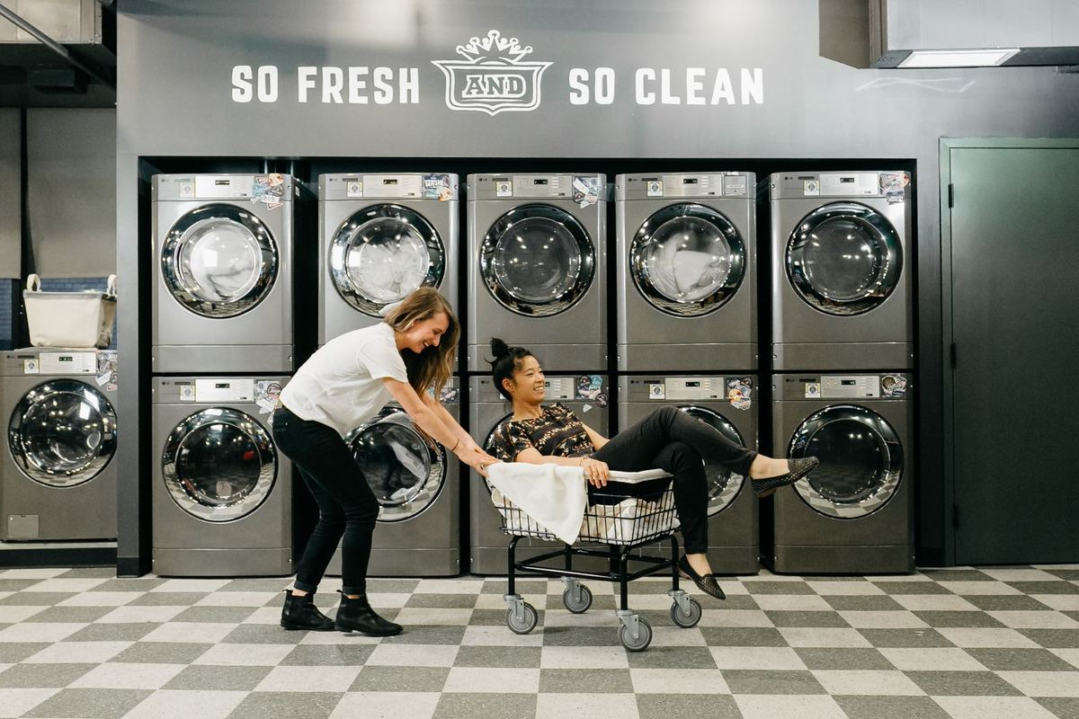A laundry room at WeLive. Photo courtesy of WeLive.
