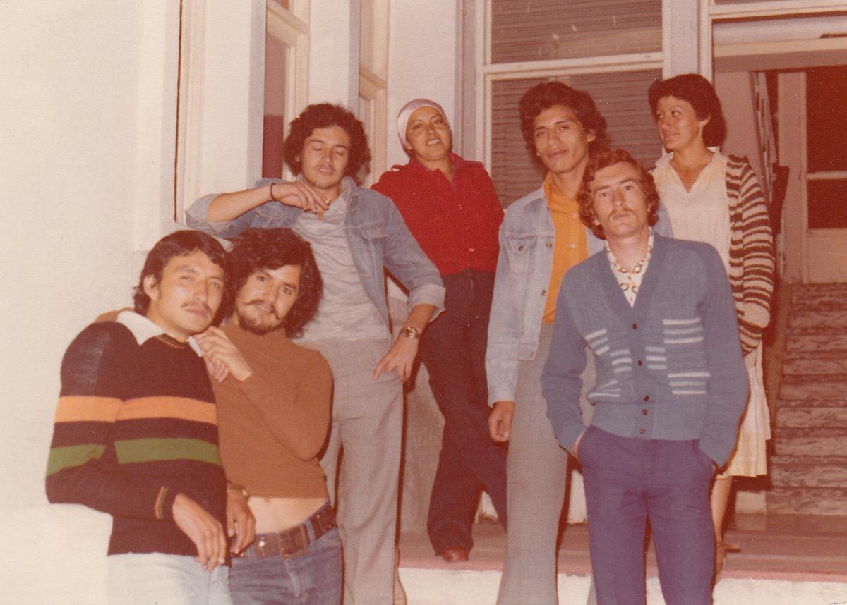 From left to right: Francisco Bohorquez, Jaime Bautista, Fernando Arregui, LuPe, Edgar Barahona, Oswaldo Arteaga, Fiona