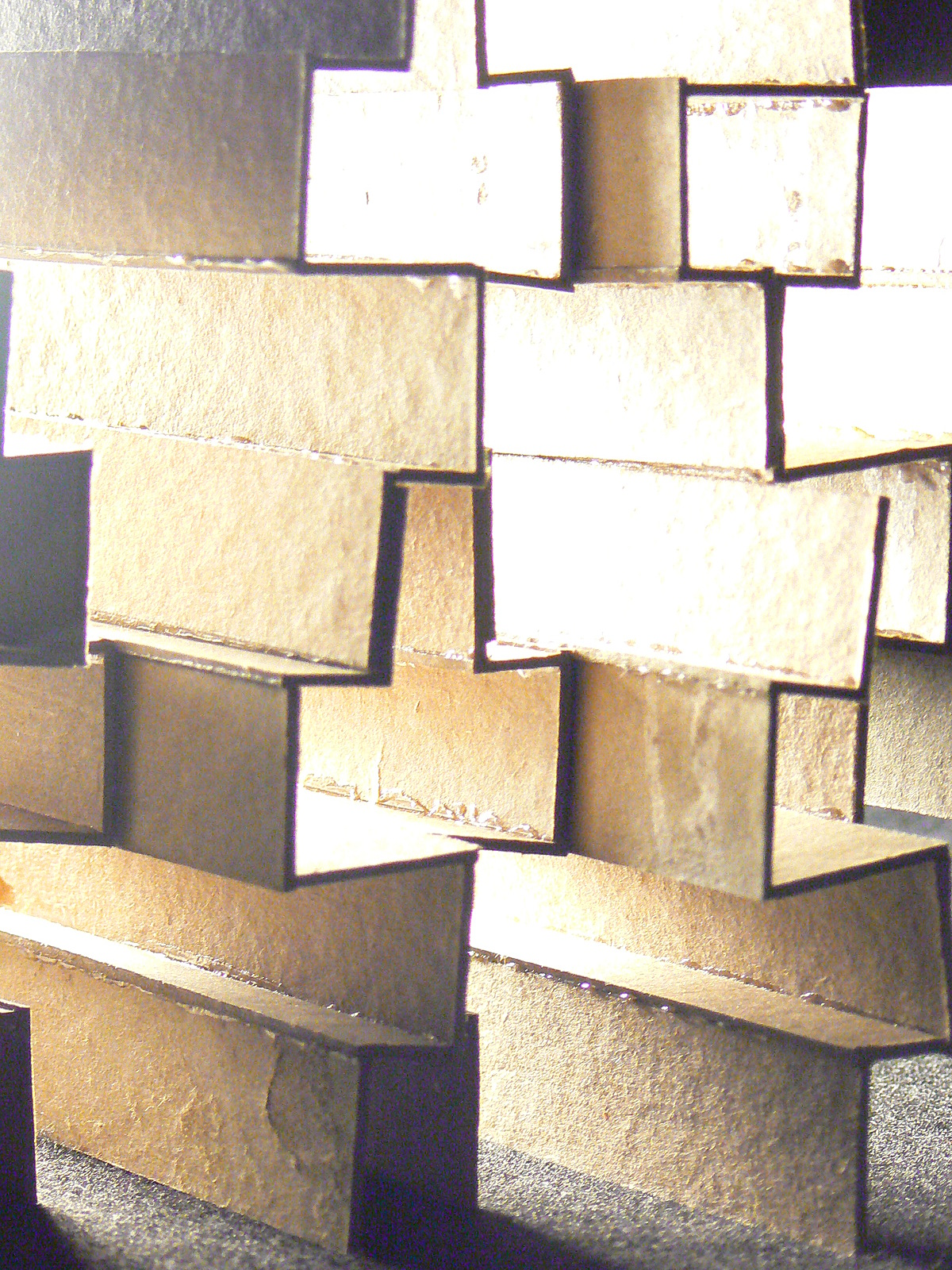 Chipboard, extrusion of a pattern
