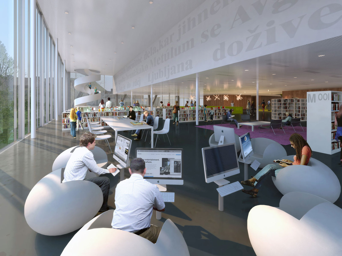 Interior view Library