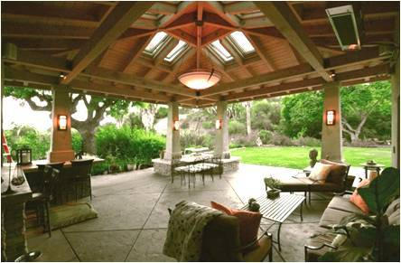 The interior of the pavilion is naturally lit by operable skylights that also help with summer ventilation.