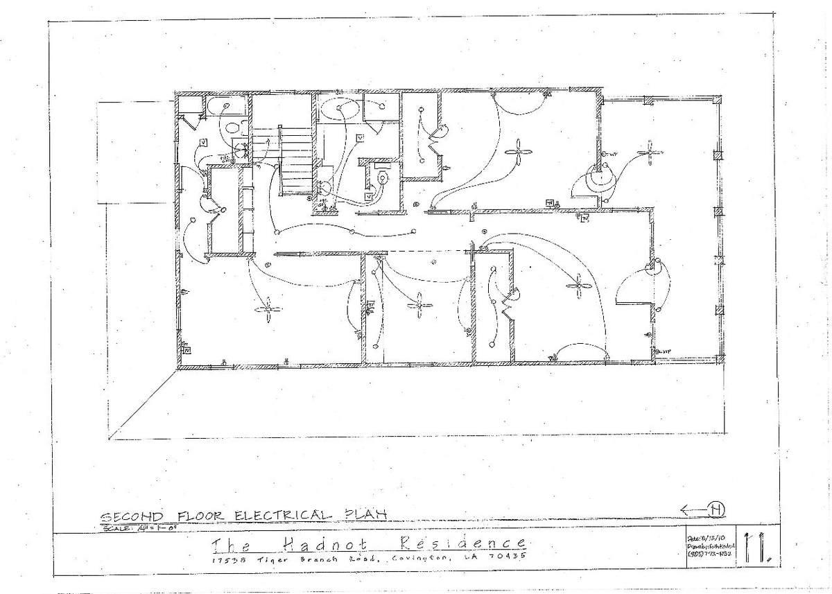Second Floor Electrical Plan