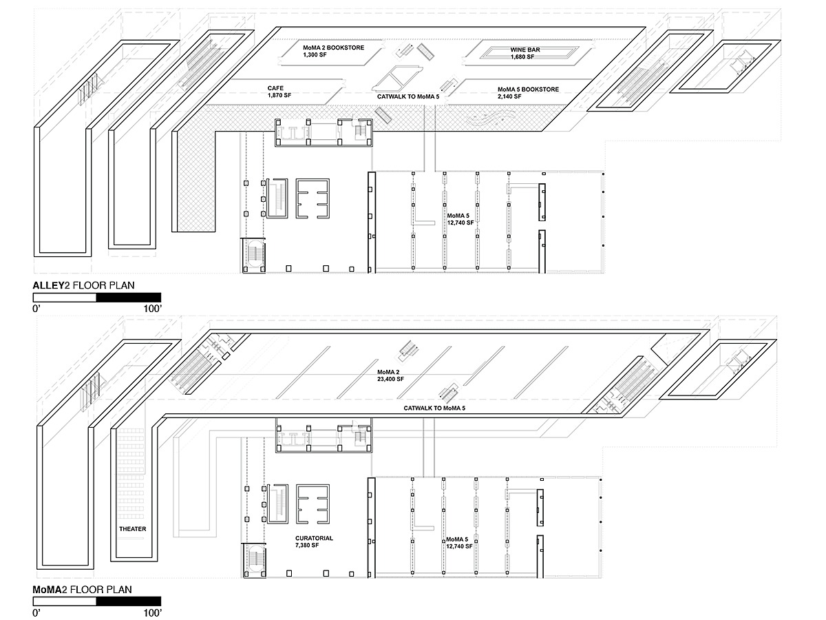 Third Floor Plan - Alley 2 and Fourth Floor Plan - MoMA 2