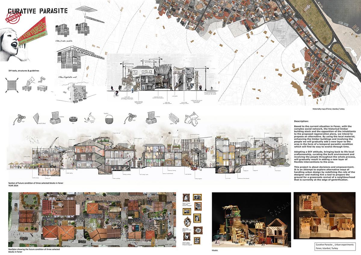 Honorable Mention: CURATIVE PARASITE _ Urban Experiments, Louisa Varelidi, Stella Papazoglou