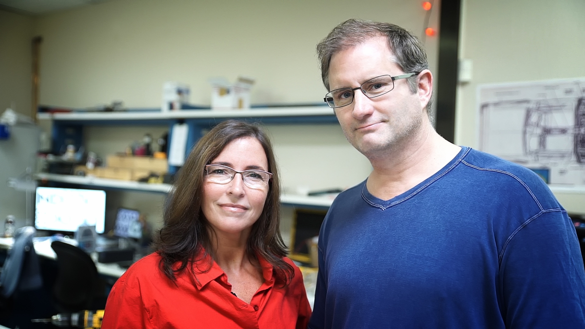 Greg Henderson with his wife Jill, the co-founders of Arx Pax. Image courtesy of Arx Pax.