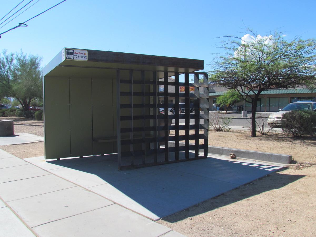 South Facing Bus Shelter Location: Tucson, AZ