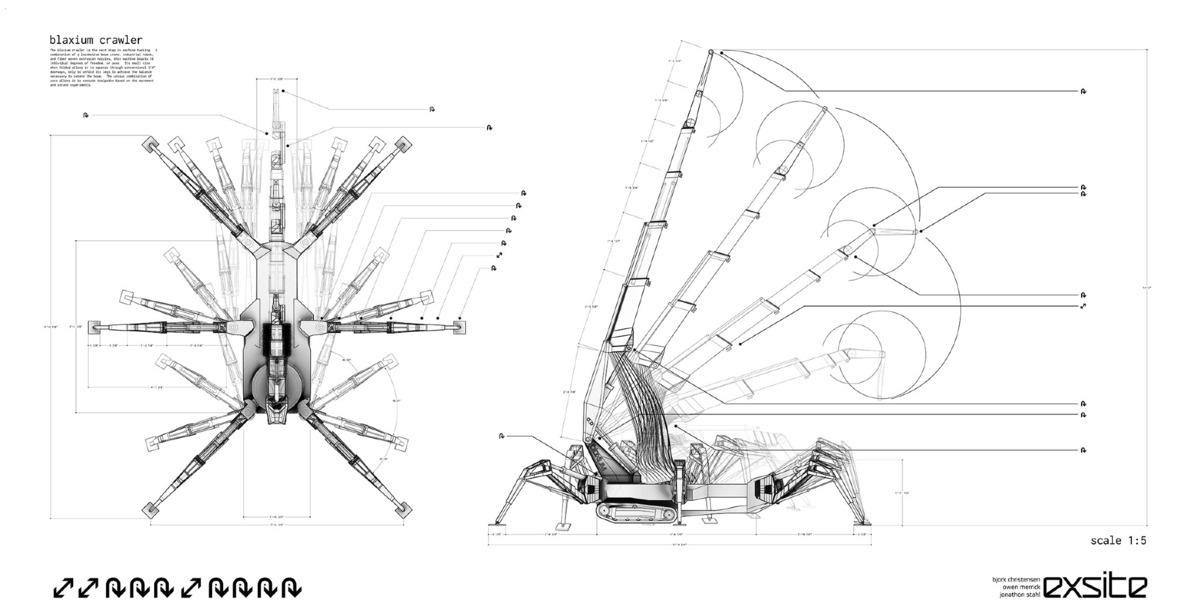 Blaxium Crawler Plan/Elevation