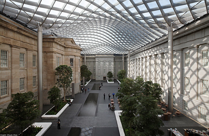 Gustafson Guthrie Nichol: Robert and Arlene Kogod Courtyard inside the Smithsonian American Art Museum and National Portrait Gallery in Washington, D.C. (Photo: Chuck Choi)
