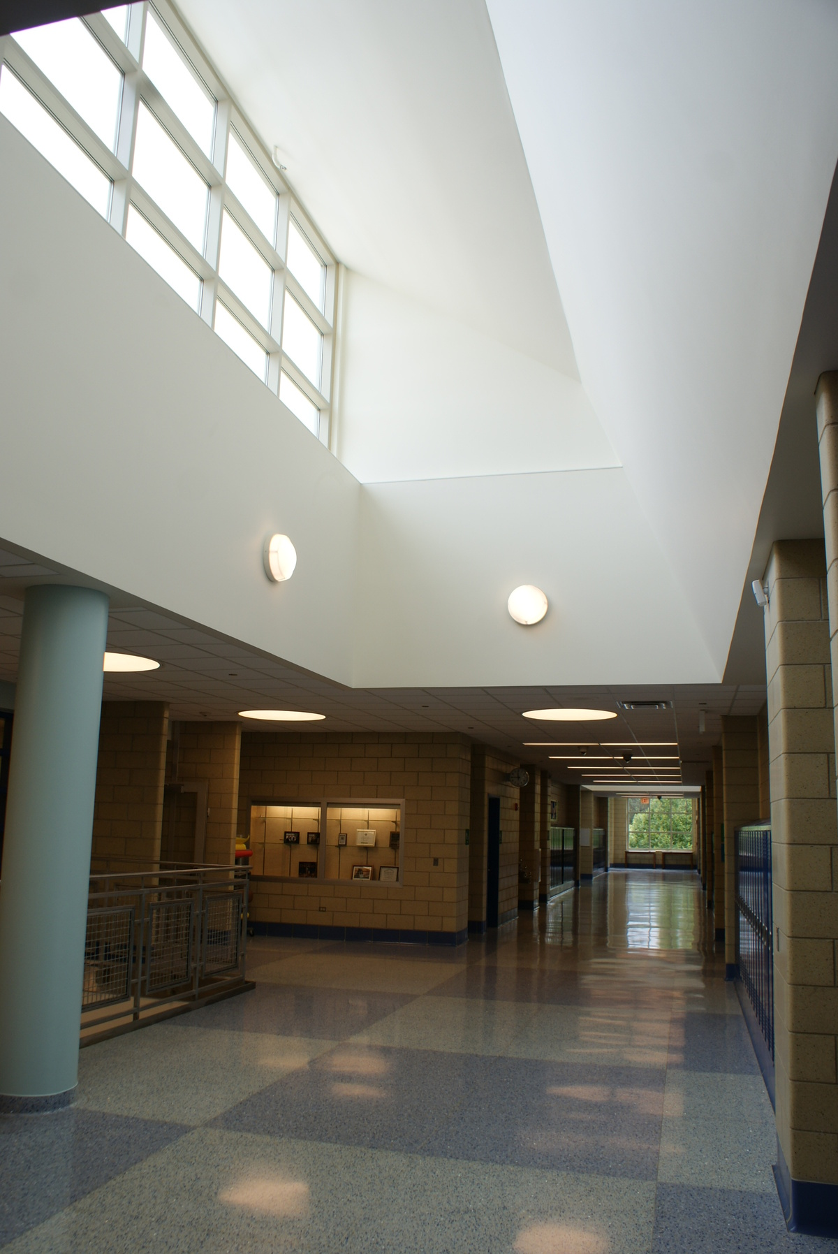 Interior View of Hallway Roof Monitors