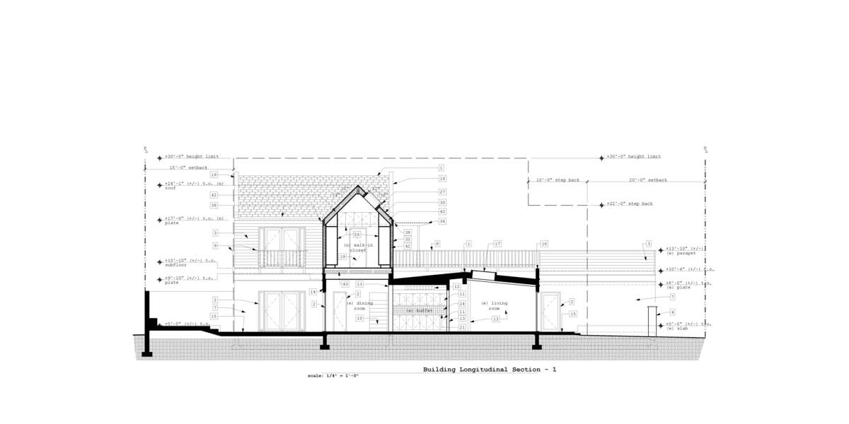 Building Longitudinal Section 2