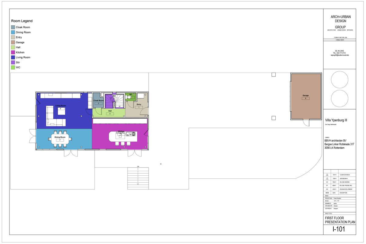 First Floor Presentation Plan