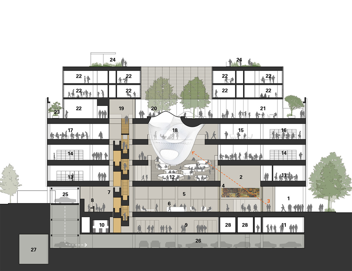 MLK Renovation Design Ideas, Team 2 - Patkau + Ayers Saint Gross