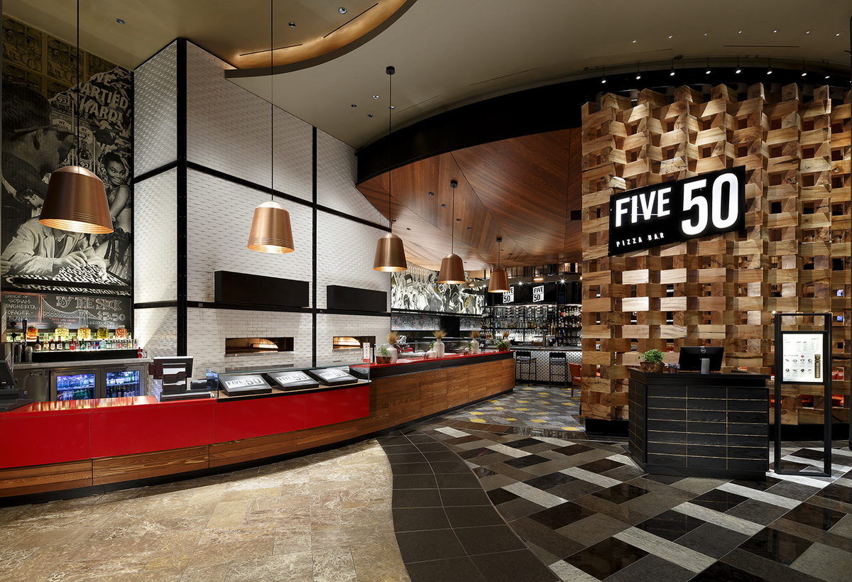 Five 50 Pizza, designed by the Rockwell Group.