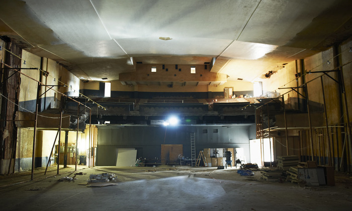 The current interior of the Marina Abramovic Institute at 620 Columbia Street in Hudson, NY.