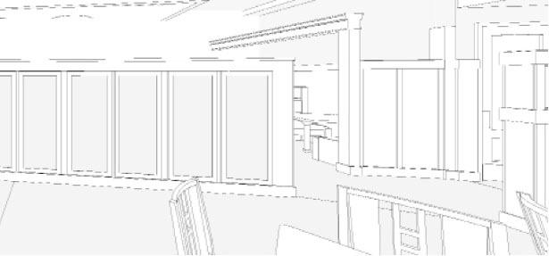 Interior shot from REVIT/BIM model for McCormick & Schmick's