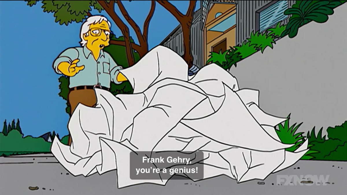 Screenshot of Frank Gehry on