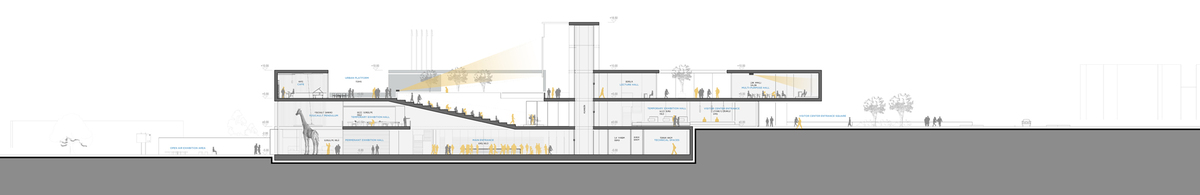 021 – SECTION A-A   1/200 - Image Courtesy of ONZ Architects