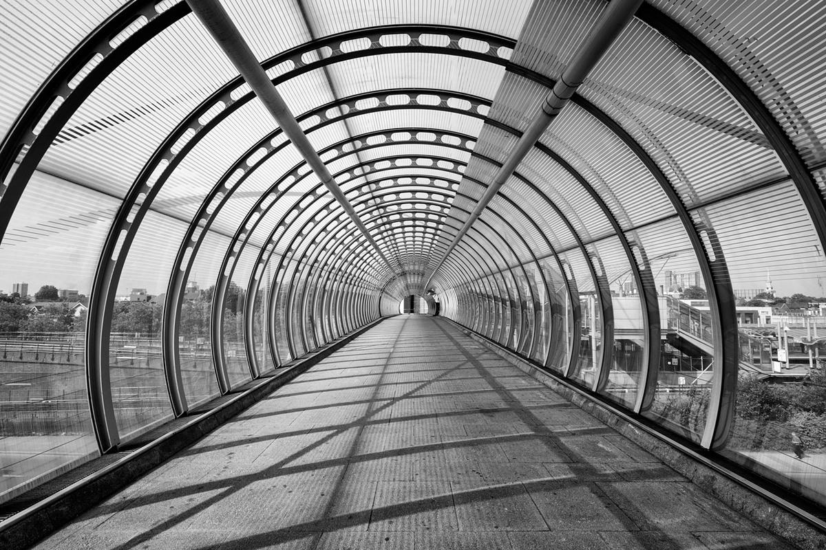Poplar DLR Station, London. Architect: Unknown. © Edward Neumann / EMCN