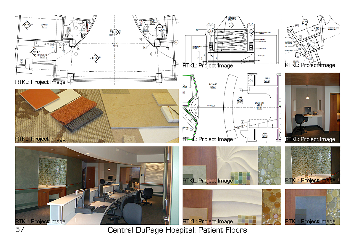 Bed Pavilion Patient Floors Family Waiting and Nurse Station.