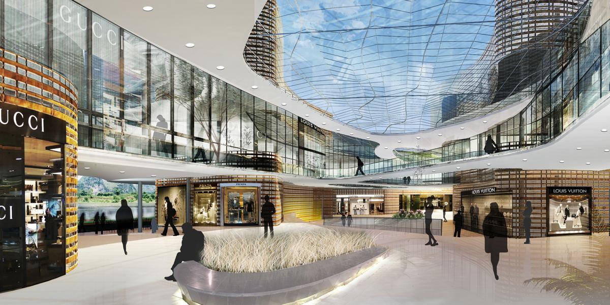 Retail Mall and Plaza Interior