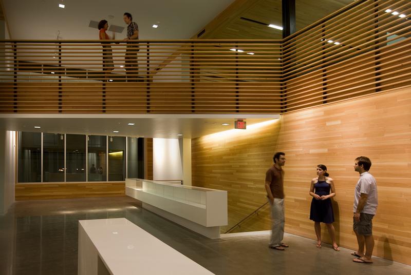 Interior features include reclaimed Douglas fir.