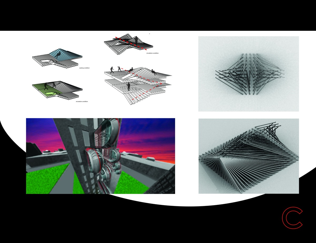 EcoPOD renderings accompanied by programmatic and Grasshopper component exploration