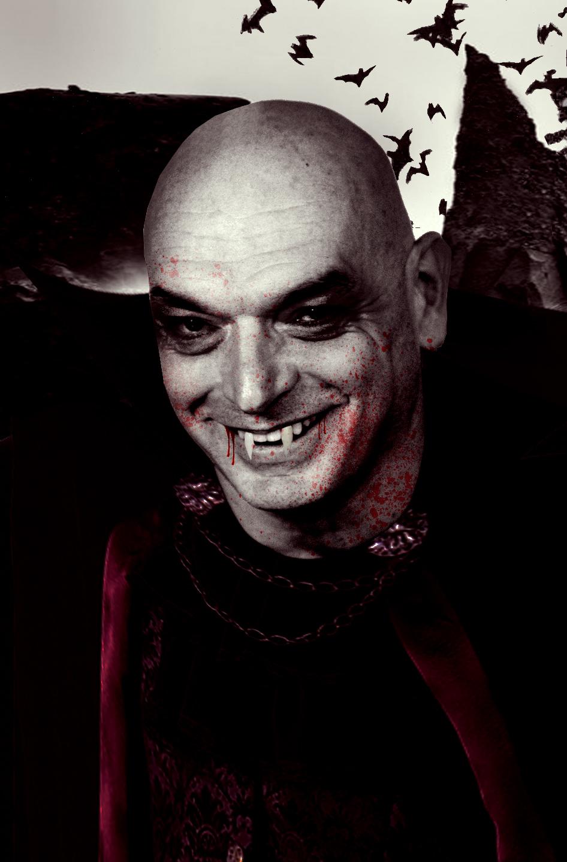 Jean as Dracula