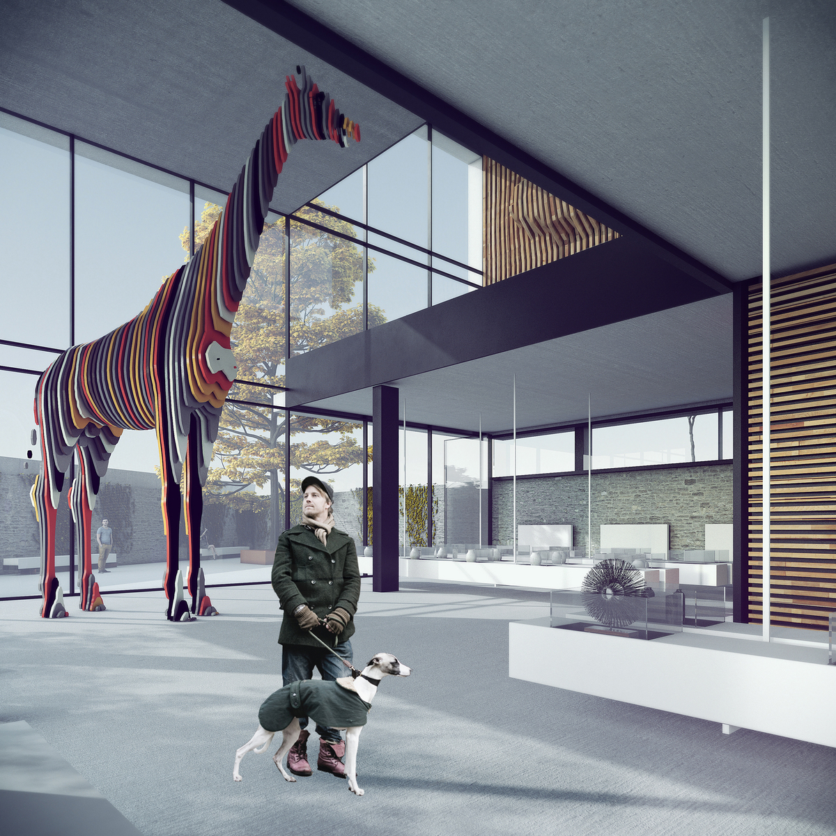 015 – PERSPECTIVE   EXHIBITION HALL - Image Courtesy of ONZ Architects
