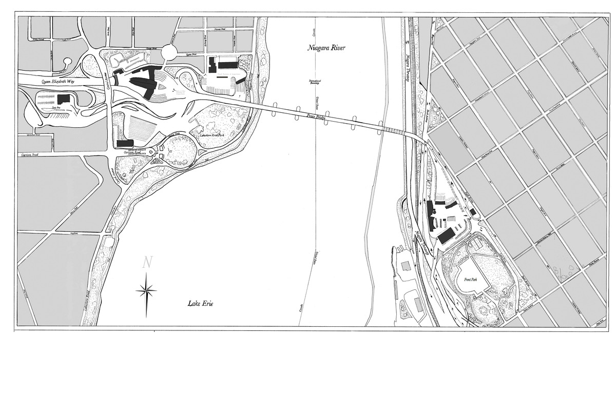 (Existing) Site Plan (ink drawing + Photoshop)