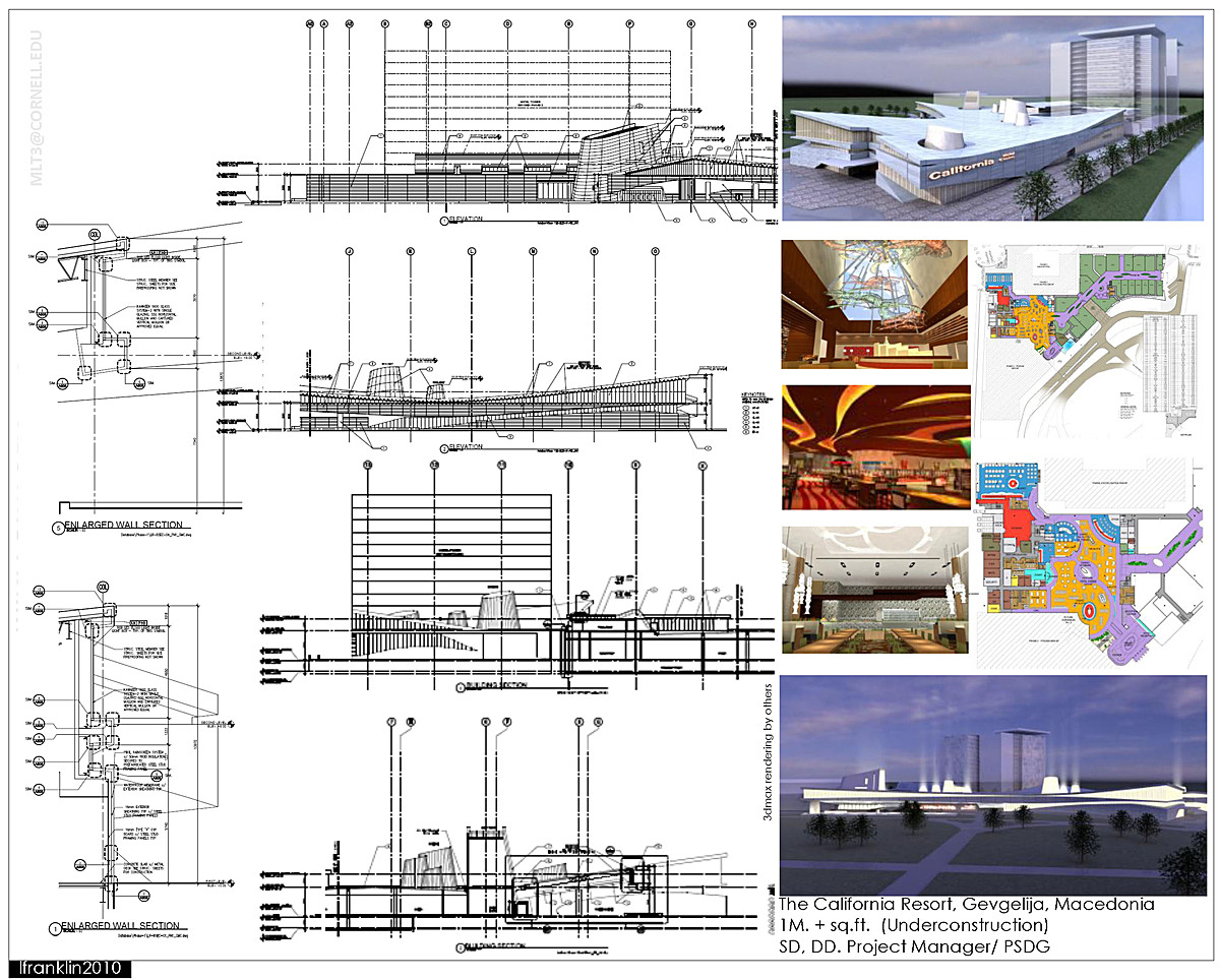The California Resort, Gevgelija, Macedonia 1M. + sq.ft. (Underconstruction) SD, DD. Project Manager/ PSDG