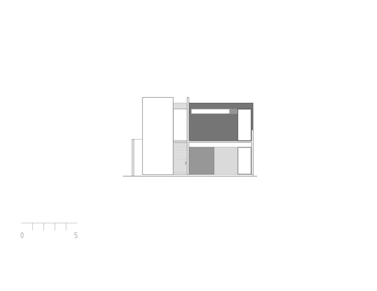 Elevation of house 3