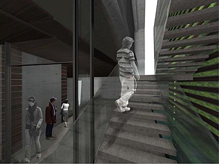 Promenade to third floor