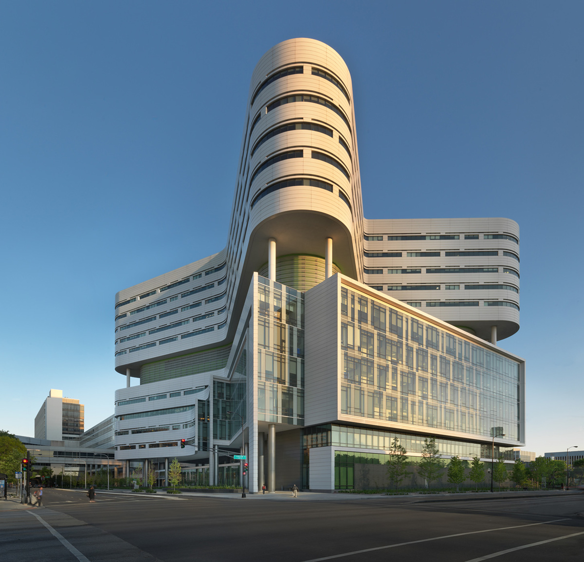 Shortlisted in the Health Category: Rush University Medical Center New Hospital Tower in the United States by Perkins+Will (Photo courtesy of World Architecture Festival)