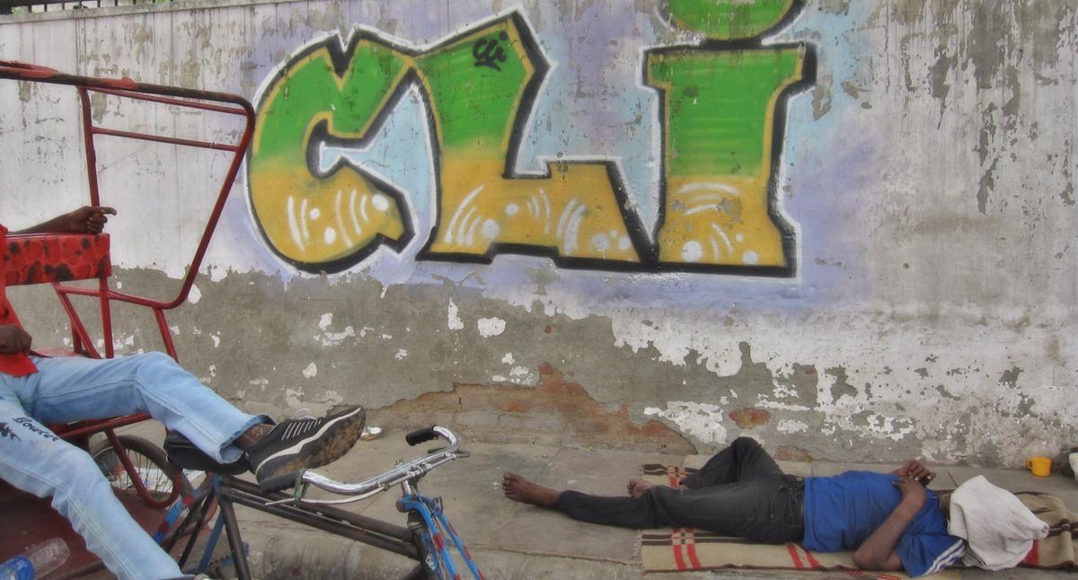 Surprisingly graffiti in Delhi is difficult to find