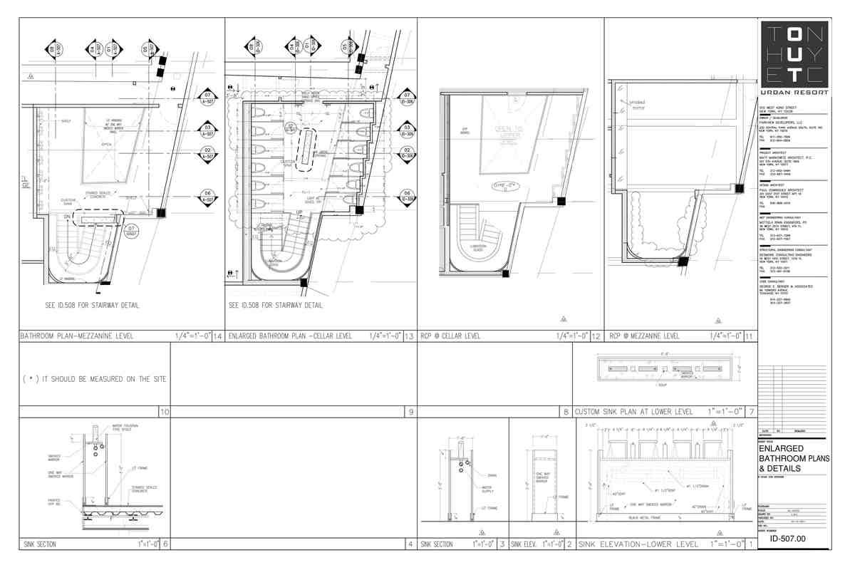 Bathroom details - My sample drafting