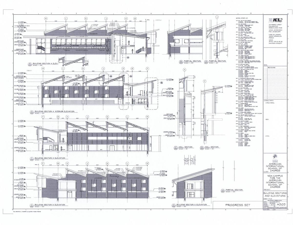 Exterior Elevations, Sections, Interior Elevations and Details