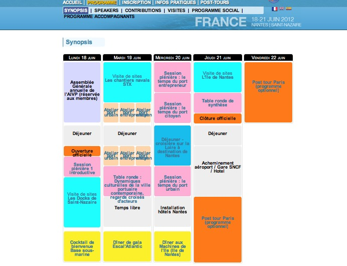 The Port's new era – 13th World Conference Cities and Ports (program)
